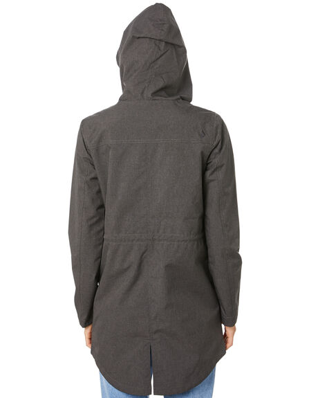 ASH BLACK WOMENS CLOTHING VOLCOM JACKETS - B1511976ASB