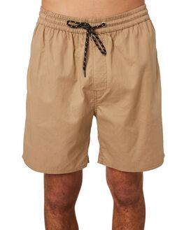 TAN MENS CLOTHING RPM SHORTS - 8SMB01BTAN