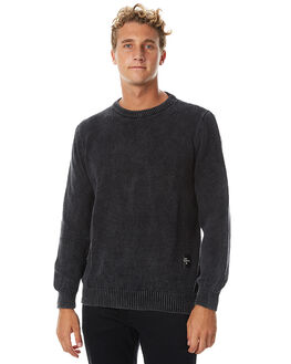 BLACK MENS CLOTHING THE PEOPLE VS KNITS + CARDIGANS - AW17071-BLK