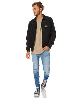 BLACK MENS CLOTHING STUSSY JACKETS - ST077508BLK