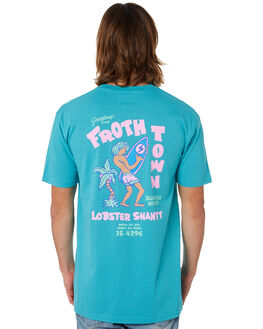 CARRIBEAN BLUE MENS CLOTHING THE LOBSTER SHANTY TEES - LBSTROPCABLU