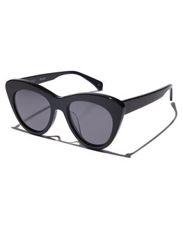 GLOSS BLACK WOMENS ACCESSORIES OSCAR AND FRANK SUNGLASSES - 004BLGLBLK
