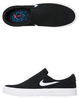 BLACK WHITE MENS FOOTWEAR NIKE SLIP ONS - AT8899-002