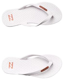WHITE WOMENS FOOTWEAR BILLABONG THONGS - 6671802WHT