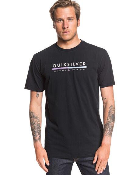 BLACK MENS CLOTHING QUIKSILVER TEES - EQYZT05665-KVJ0