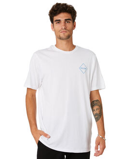 WHITE COMBO MENS CLOTHING VOLCOM TEES - A504186GWTC