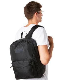 BLACK MENS ACCESSORIES JANSPORT BAGS + BACKPACKS - JS0A3P6XJS008BLK