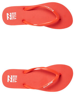 POPPY RED WOMENS FOOTWEAR BILLABONG THONGS - 6671857POP
