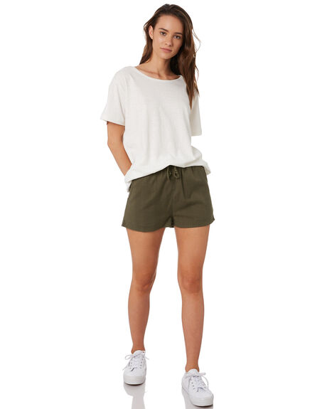 OLIVE WOMENS CLOTHING RIP CURL SHORTS - GWAEZ10058