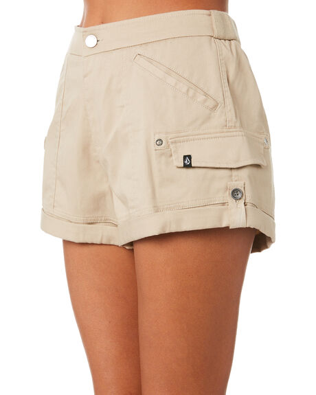 OXFORD TAN WOMENS CLOTHING VOLCOM SHORTS - B0931875OXF