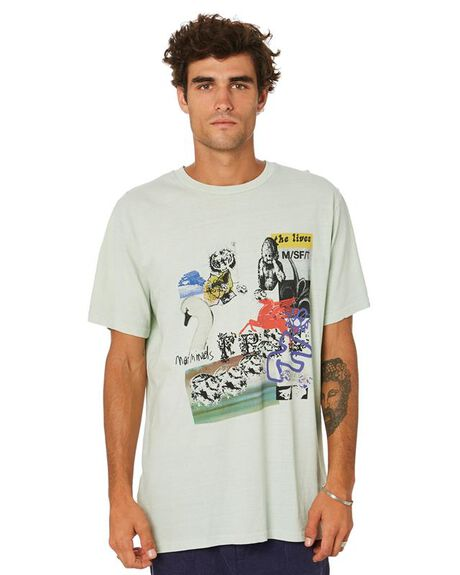 PIGMENT WASHED GREEN MENS CLOTHING MISFIT TEES - MT015004PGWGR