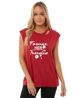 RASBERRY WOMENS CLOTHING SOMEDAYS LOVIN TEES - IL18S1000RED