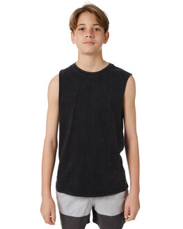 BLACK KIDS BOYS SWELL TOPS - S3184275BLACK