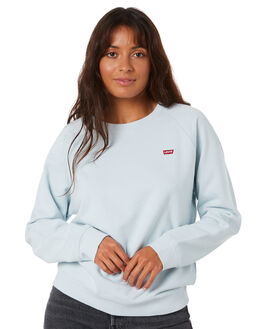 NEW BABY BLUE WOMENS CLOTHING LEVI'S JUMPERS - 85626-0001BBYBL
