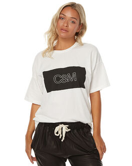 WHITE WOMENS CLOTHING CAMILLA AND MARC TEES - OCMT6577WHT