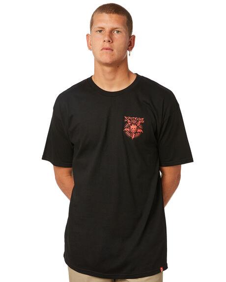 BLACK MENS CLOTHING SPITFIRE TEES - 51010595BLK