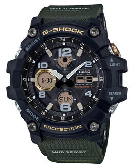 BLACK GREEN MENS ACCESSORIES G SHOCK WATCHES - GSG100-1A3BLKGR