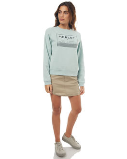 HEATHER BLUE HAZE WOMENS CLOTHING HURLEY JUMPERS - AGFLFUTRHBHZ