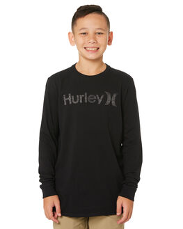 BLACK KIDS BOYS HURLEY TOPS - AO2240-010