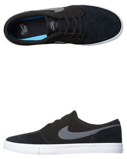 BLACK DK GREY WHITE WOMENS FOOTWEAR NIKE SKATE SHOES - SS880266-001W