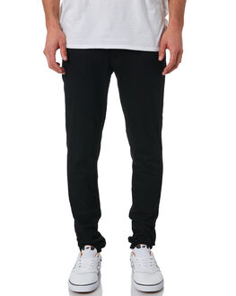 BLACK MENS CLOTHING CHEAP MONDAY JEANS - 0243968BLK
