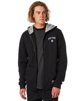 BLACK MENS CLOTHING ZOO YORK JUMPERS - ZY-MFA8163BLK