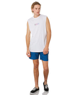 WHITE MENS CLOTHING HURLEY SINGLETS - CK1680100