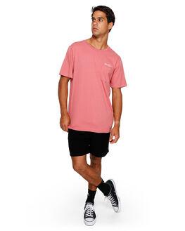 DUSTY ROSE MENS CLOTHING RVCA TEES - RV-R191045-DU4