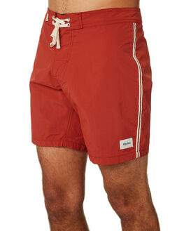 CLASSIC RED MENS CLOTHING RHYTHM BOARDSHORTS - JAN19M-TR05-RED