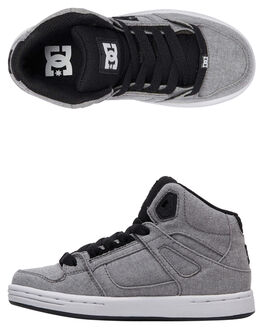 GREY KIDS BOYS DC SHOES SNEAKERS - ADBS100243-GRY