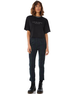 BLACK WOMENS CLOTHING AFENDS TEES - W183006-BLK