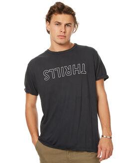 VINTAGE BLACK MENS CLOTHING THRILLS TEES - TW7-103VBVBLK