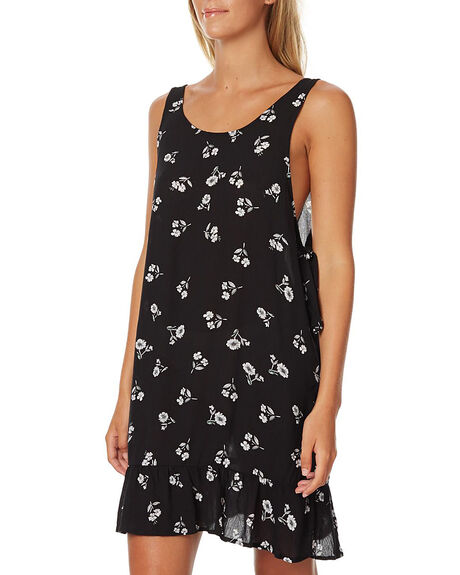 BLACK FLORAL WOMENS CLOTHING SWELL FASHION TOPS - S8161458BLK