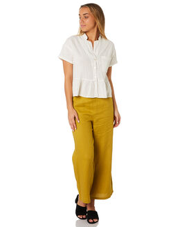 WHITE WOMENS CLOTHING RHYTHM FASHION TOPS - JUL19W-WT02WHI