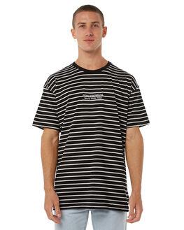 BLACK MENS CLOTHING STUSSY TEES - ST085107BLK