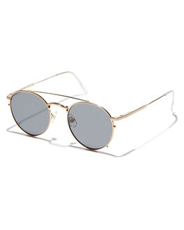 BRUSHED GOLD WIRE UNISEX ADULTS CRAP SUNGLASSES - 162WB91PGZGLDWR