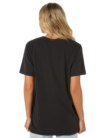 WORN BLACK WOMENS CLOTHING WRANGLER TEES - W-951698-082