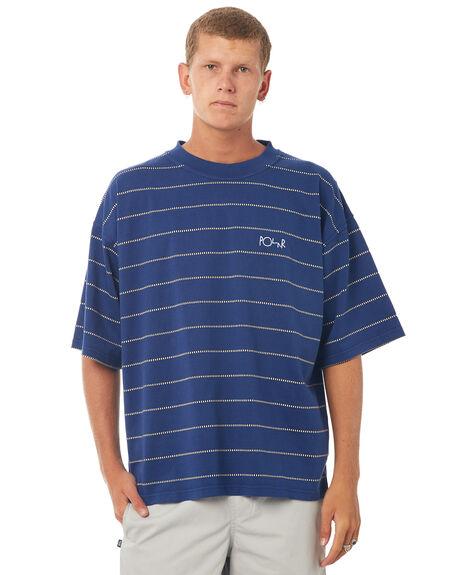 BLUE MENS CLOTHING POLAR SKATE CO. TEES - CHCKTBLUE