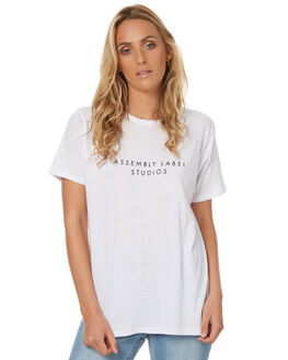 WHITE WOMENS CLOTHING ASSEMBLY TEES - AW-S1790WHT