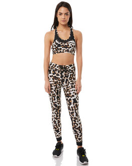 LEOPARD WOMENS CLOTHING THE UPSIDE ACTIVEWEAR - UPL1660LEO