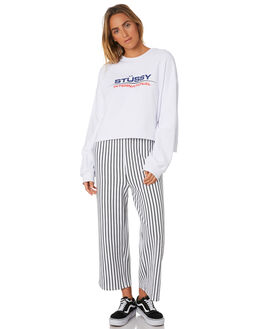 WHITE WOMENS CLOTHING STUSSY JUMPERS - ST196321WHI