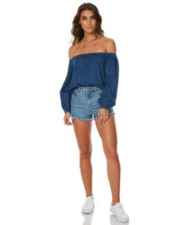 INDIGO WOMENS CLOTHING BILLABONG FASHION TOPS - 6575111XBLU
