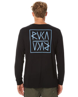 BLACK MENS CLOTHING RVCA TEES - R171091BLK