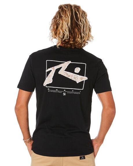 BLACK MENS CLOTHING RUSTY TEES - TTM2333BLK