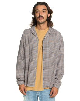 ZEN BLUE MINI CHECK MENS CLOTHING QUIKSILVER SHIRTS - EQYWT03977-BDE1