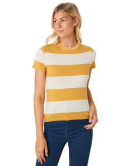 GOLD WOMENS CLOTHING ROLLAS TEES - 13026-511
