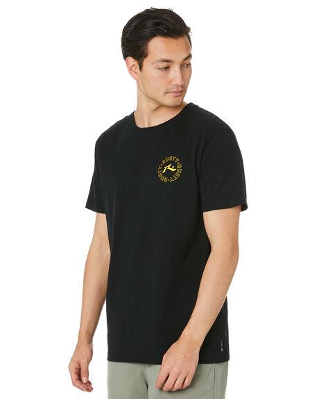 BLACK MENS CLOTHING RUSTY TEES - TTM2495BLK