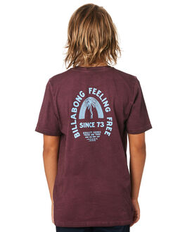 BURGUNDY KIDS BOYS BILLABONG TOPS - 8595010BUR