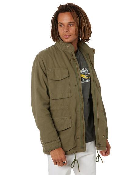 ARMY GREEN MENS CLOTHING THRILLS JACKETS - TW21-204FARMGR