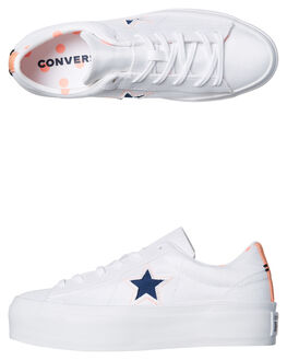 WHITE CRIMSON WOMENS FOOTWEAR CONVERSE SNEAKERS - 560700WHT